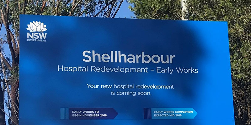 Shellharbour redevelopment sign