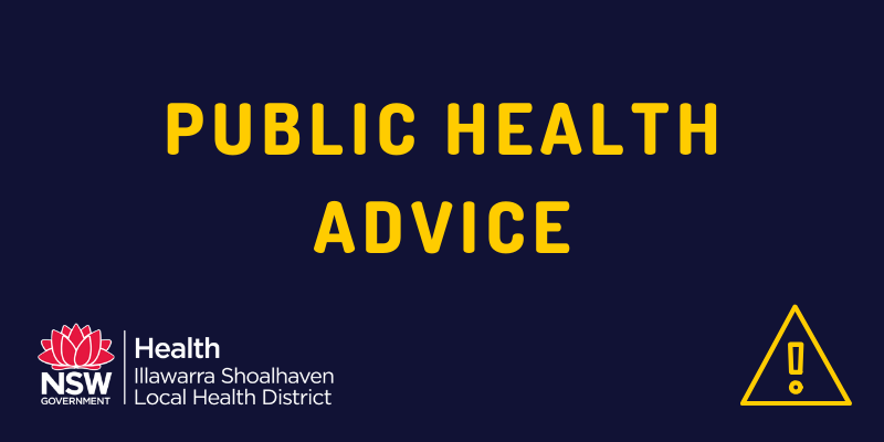 Public Health Advice written on blue background with ISLHD logo