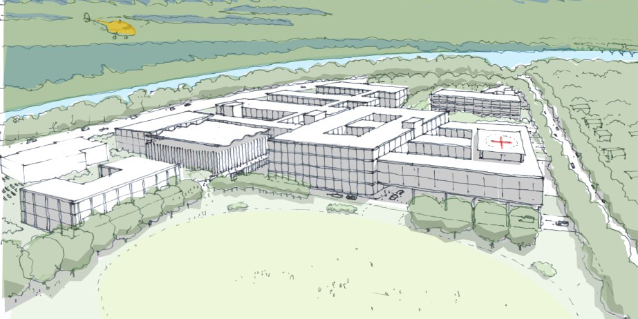 Artist's impression of the long term vision for Shoalhaven Hospital