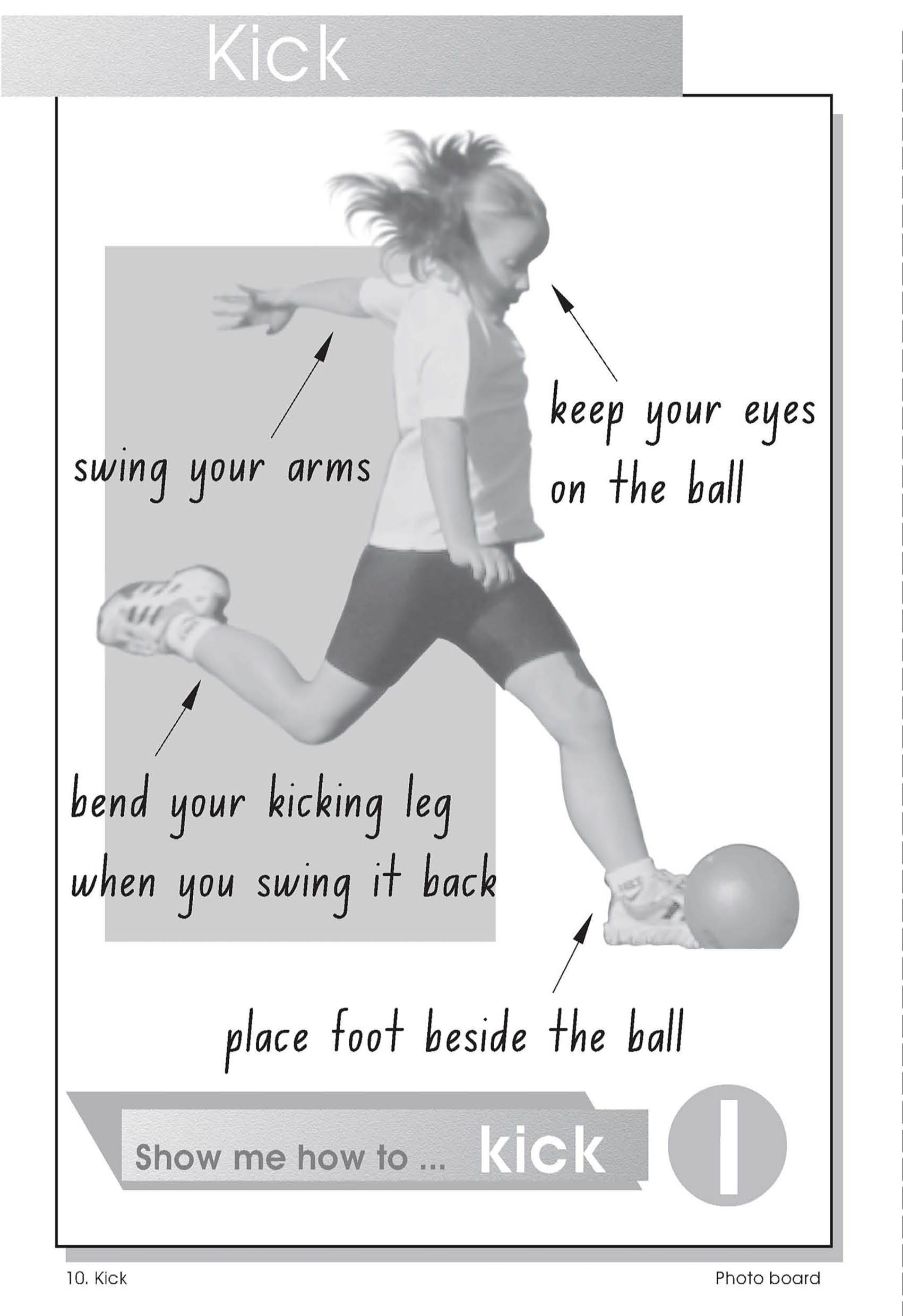 Observational poster - how to kick