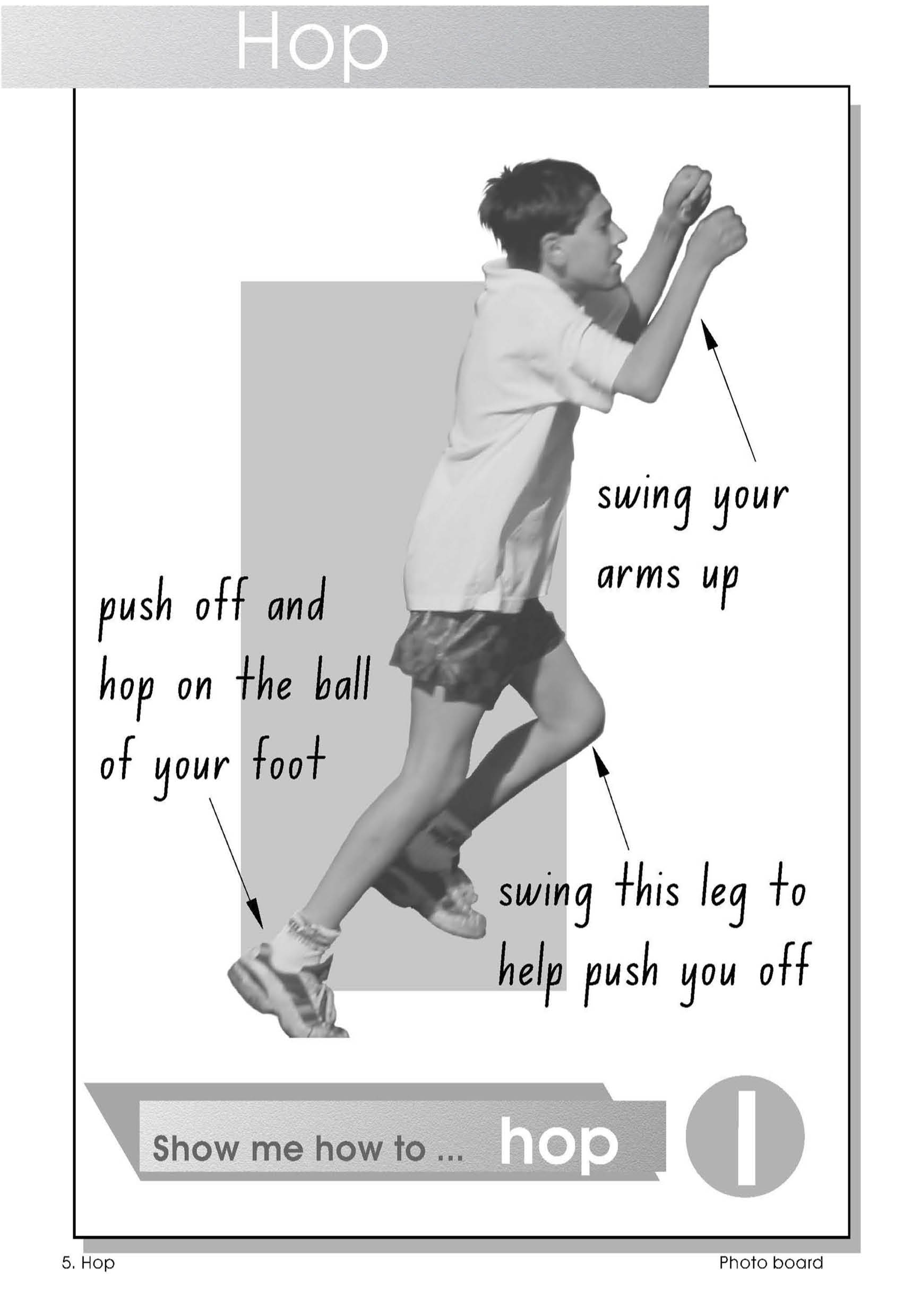 Observational poster - how to hop