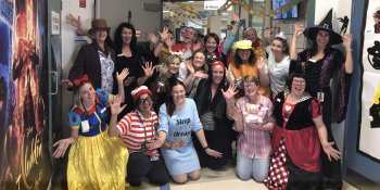 Staff dress up for Kid's Party Week