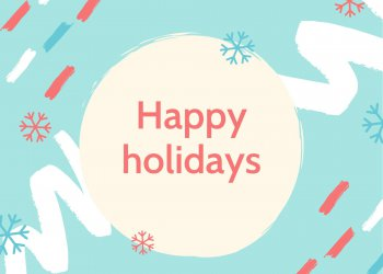 "Festive pattern with words ""happy holidays"""