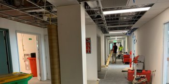 Construction progress on Wollongong Hospital's Birthing Unit upgrade
