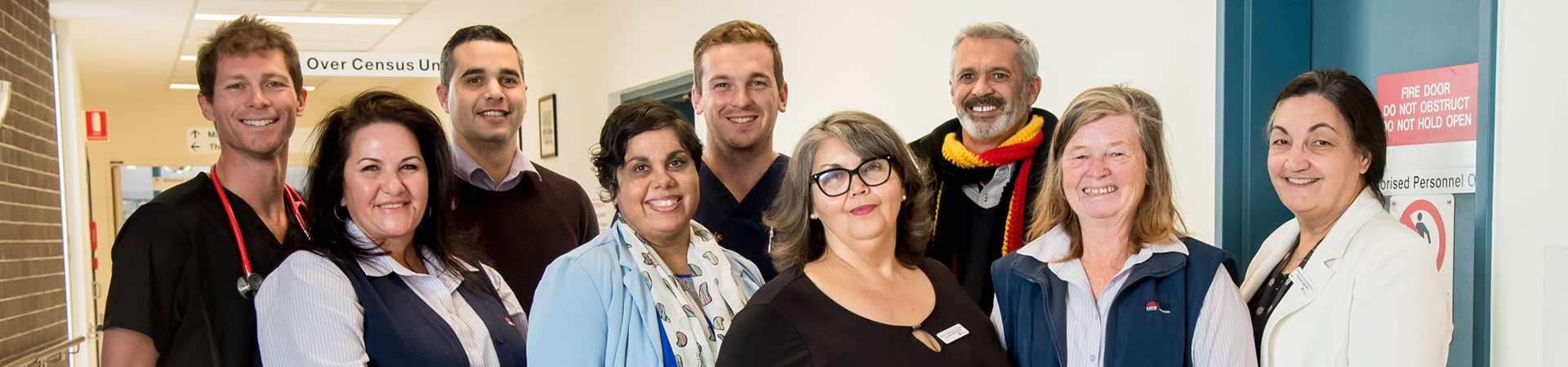 Aboriginal Health Staff in corridor at Shoalhaven Hospital